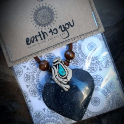 Lazulite and Turquoise Crystal Pendant